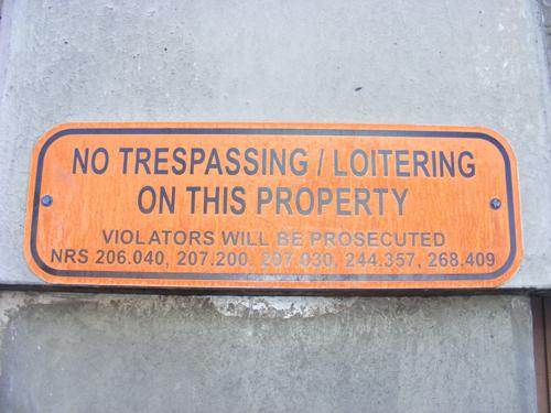 Clark County Detention Center No Trespassing