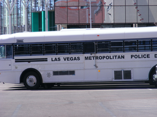 Las Vegas Metropolitan Police Bus at the Clark County Detention Center